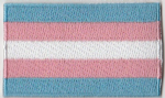 Transgender Pride (pink/blue) Flag Embroidered Flag Patch, style 04